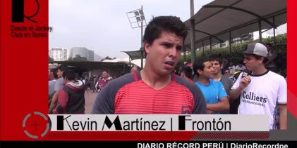 """[FRONTÓN] Kevin Martínez: """"Fue un gran triunfo que dedico a todos los que me siguen"""""""