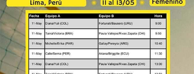 [VÓLEY PLAYA] Final del Circuito Sudamericano se disputa desde el viernes en Agua Dulce