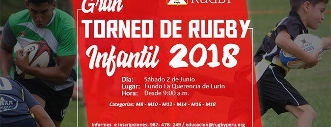 [RUGBY] Federación anuncia gran Torneo Infantil en Lurín