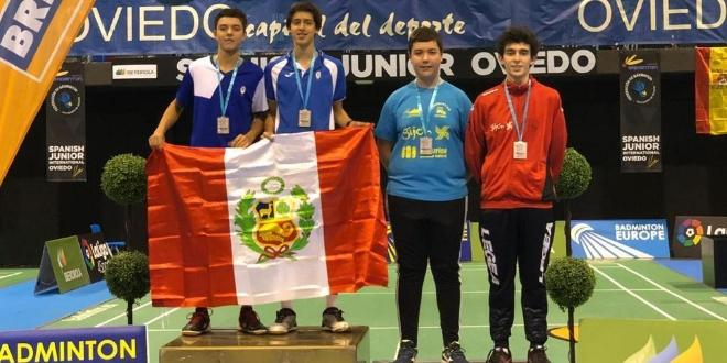 [BÁDMINTON] Cinco medallas para Perú en internacional juvenil en España