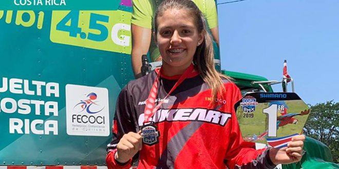 [CICLISMO] Micaela Ramírez se impone en la Copa Naciones BMX en Costa Rica