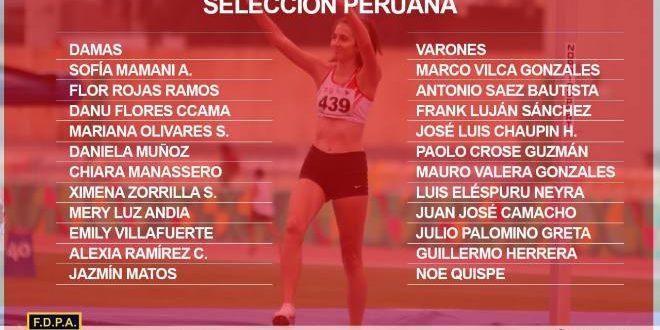 [ATLETISMO] Se definió a la selección nacional para el Sudamericano U20